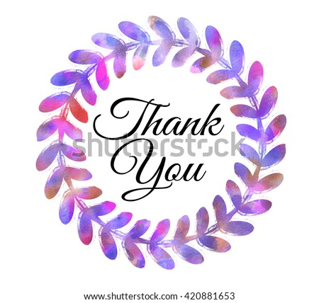 Thank you painted stock photos images pictures Thank you in calligraphy writing