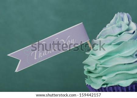 Thank you cupcake card design - stock photo