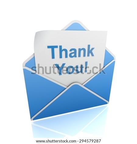 thank you envelope - stock photo