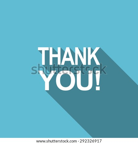 thank you flat icon  original modern design flat icon for web and mobile app with long shadow  - stock photo