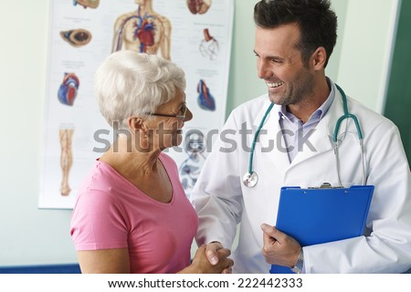 Thank you for visit and good news  - stock photo