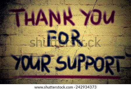 Thank You For Your Support Concept - stock photo