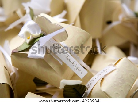 Thank You Gift Box for Special Occasions - stock photo