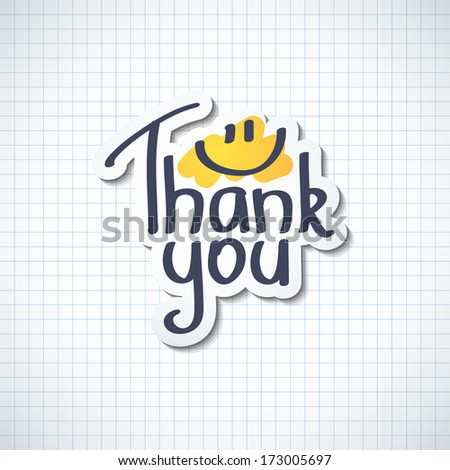 Thank You, handwritten text - stock photo