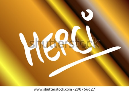 thank you in french language - stock photo