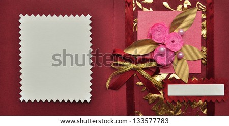 Thank you, invite or gift card design - stock photo