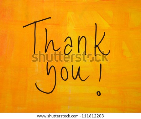 thank you message - stock photo