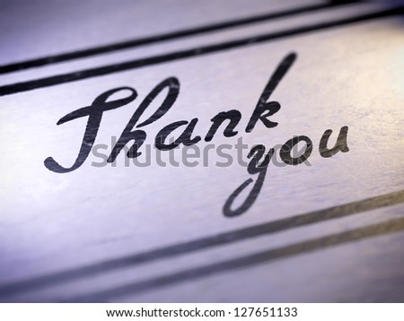 thank you ( my own font )  Full collection of icons like that is in my portfolio - stock photo