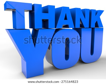 Thank You - over white Background - stock photo