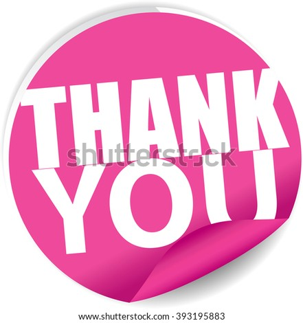Thank you pink Label, Sign, stickers and symbol. - stock photo