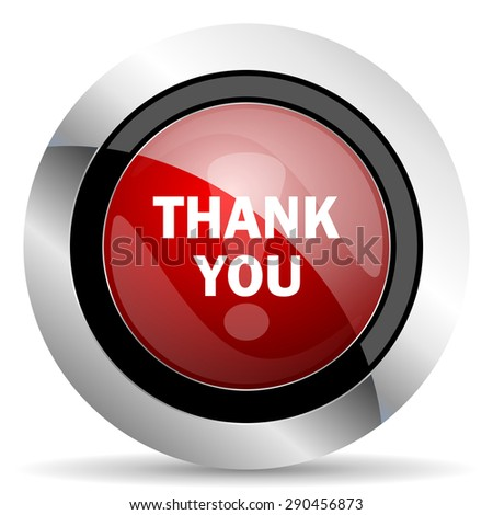 thank you red glossy web icon original modern metallic and chrome design for web and mobile app on white background   - stock photo