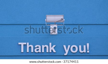 Thank you sign - stock photo