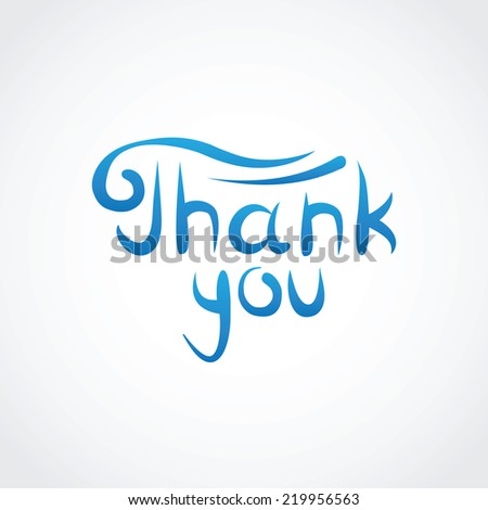 Thank You. Vector Lettering. - stock photo