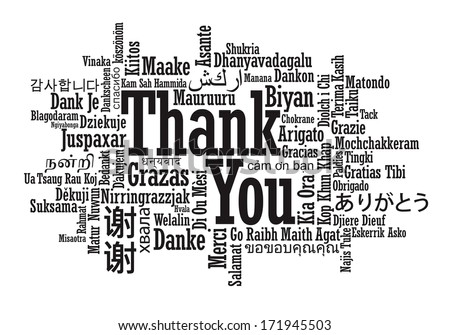 Thank You Word Cloud illustration - stock photo