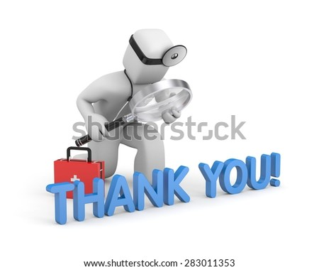 Thanks for healthcare providers - stock photo