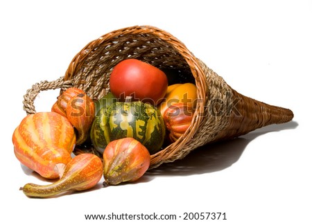 Thanksgiving Cornucopia - stock photo