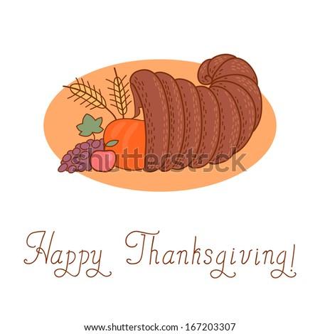 Thanksgiving Day. Cornucopia. - stock photo