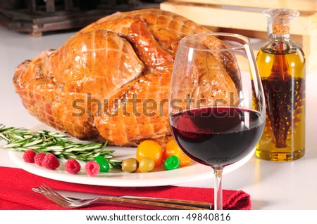 Thanksgiving dinner. - stock photo
