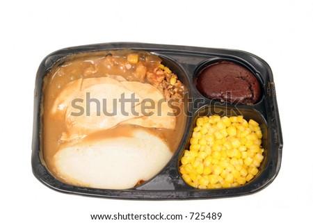 thanksgiving dinner for one - stock photo