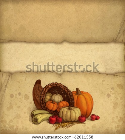 Thanksgiving greeting card - stock photo