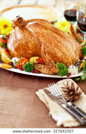 Thanksgiving Turkey dinner - stock photo