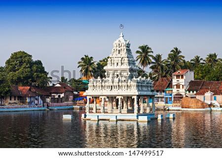 Thanumalayan Temple Suchindram, Kanyakumari, Tamil Nadu, India - stock photo