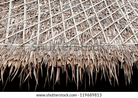 thatch roof - stock photo