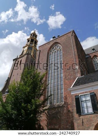 The AA church or AA-kerk in Groningen in the Netherlands   - stock photo