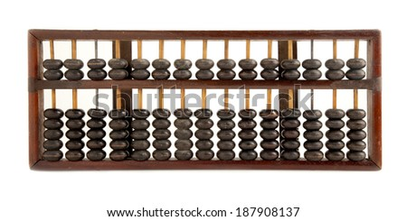 The abacus insolated on white Background. - stock photo