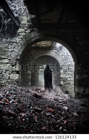the abode of death - stock photo