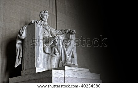 The Abraham Lincoln Memorial illustration - stock photo