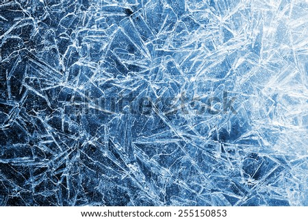 the abstract background of ice structure - stock photo