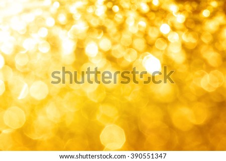 the Abstract elegant gold bokeh lighting for christmas or holiday background - stock photo