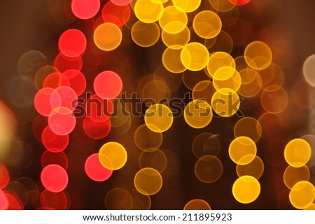 The Abstract lights, flash circle, night city - stock photo