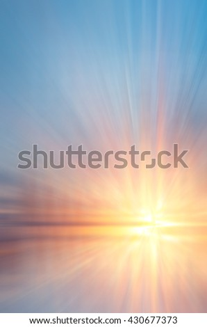 The abstract soft setting sun and waves. Abstract composition of sea sunset - stock photo