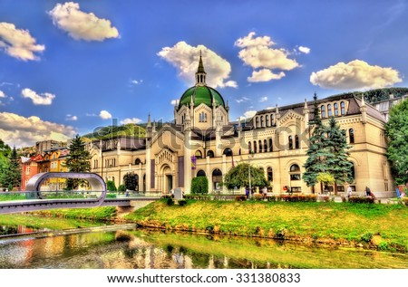 The Academy of Fine Arts in Sarajevo - Bosnia and Herzegovina - stock photo
