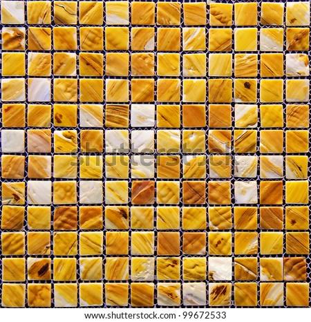 The actual texture of ceramic mosaics - stock photo