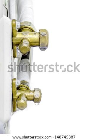 The air conditioner drip valve. - stock photo