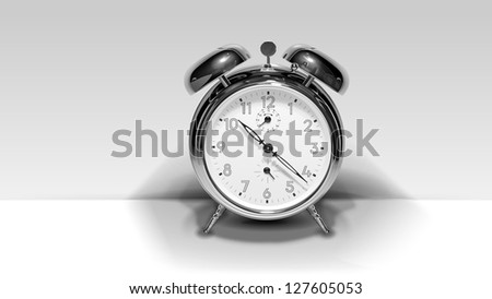 The Alarm clock. Vector image of clock which looks like a photo - stock photo