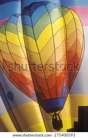 The Albuquerque International Balloon Fiesta in New Mexico - stock photo