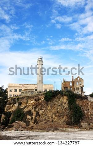 The Alcatraz prison in San Francisco, USA - stock photo