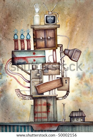 The Allegory of the russian power vertical - stock photo