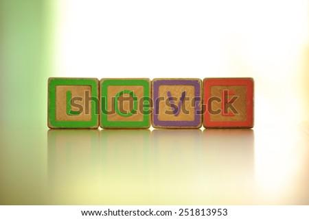The alphabet in love - stock photo