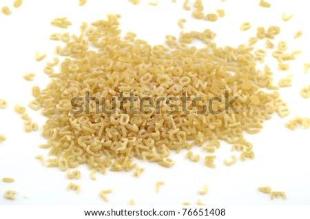 the alphabet pasta - stock photo