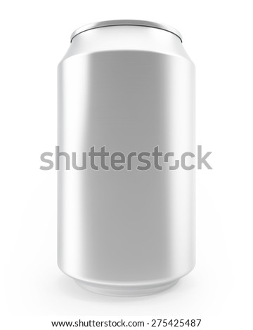 The aluminum cans isolated on white background, alcohol and carbonated drinks. - stock photo