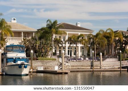 The American Dream - Luxury Along the Hillsborough River, Tampa, Florida - stock photo