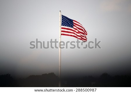 The American Flag - stock photo