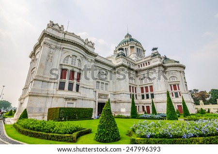 The Ananta Samakhom Throne Hall , a former reception hall within Dusit Palace in Bangkok, Thailand. - stock photo