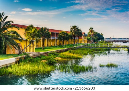 The Anchorage Inn, in St. Augustine, Florida. - stock photo
