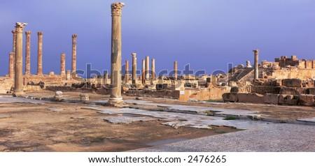 The ancient city of Sabratha, Libya - stock photo